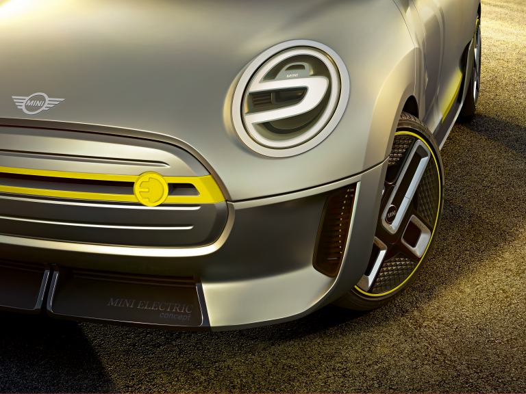 MINI Electric Concept – Close-up front and wheel