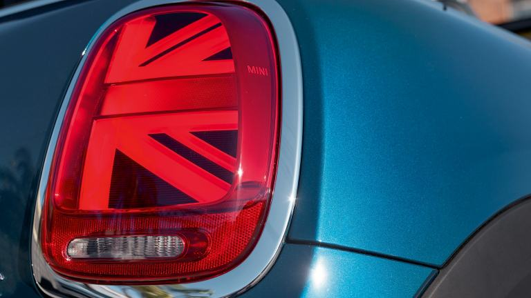MINI Cabrio Sidewalk Edition – lampy tylne – Union Jack
